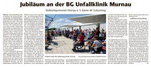 Jubiläum an der BG Unfallklinik Murnau