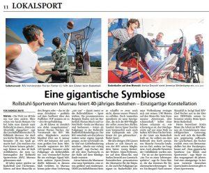 Rollstuhl Sportverein Murnau feiert 40jähriges Bestehen