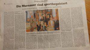 Sportlerehrung in Murnau