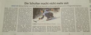 Georg Kreiter vom RSV Murnau beendet verletzungsbedingt seine erfolgreiche Karriere