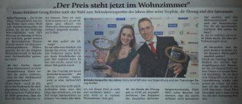 Behindertensportler des Jahres - Anna Schaffelhuber und Georg Kreiter