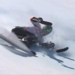 Georg Kreiter bei den Paralympics 2018 in PyeongChang. Der Sturz