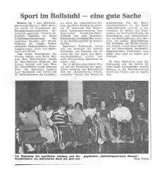 Zeitungsbericht der Gründung