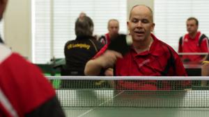 Ralf Seifert beim Rollstuhltischtennis Turnier