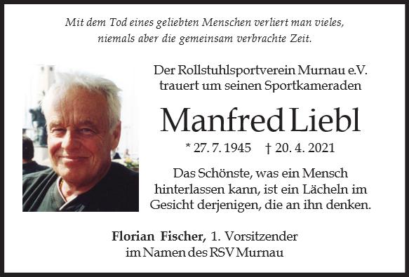 Nachruf von Manfred Liebl